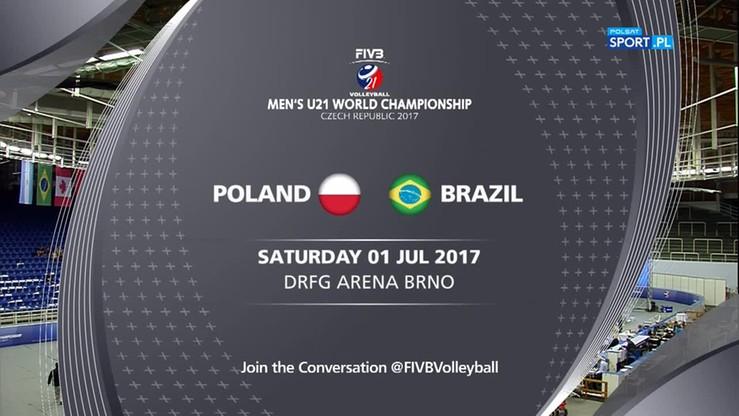 Polska - Brazylia 3:2. Skrót meczu