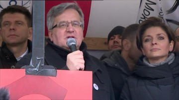 Komorowski: miałem satysfakcję oglądając jedną z posłanek czmychających z Sejmu