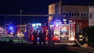 Pożar hali w Białymstoku. Nie żyje dwóch strażaków