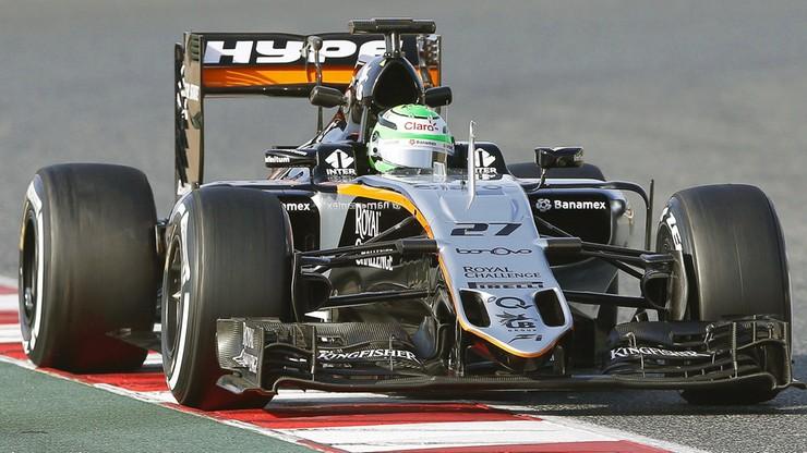 Formuła 1: Force India szybsza od Ferrari na torze Catalunya
