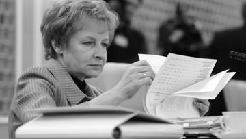 """05-04-2016 11:02 Nie żyje Zyta Gilowska. """"Jedna z najbardziej wyrazistych postaci polskiej polityki"""""""