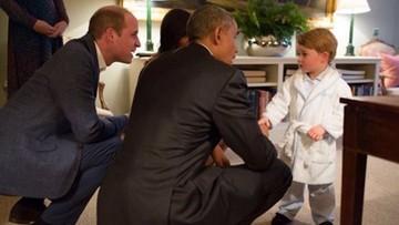 23-04-2016 08:58 Książę George przyjął Obamę w piżamie. Spotkanie na szczycie, którym żyje świat