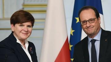 03-02-2016 19:44 Szydło i Hollande rozmawiali o imigrantach, Wielkiej Brytanii i Szczycie NATO