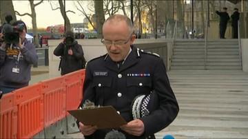 Oświadczenie policji po ataku w Londynie