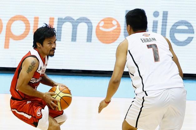 Manny Pacquiao zadebiutował jako koszykarz