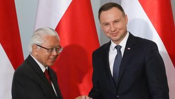 22-05-2017 15:42 Prezydenci Polski i Singapuru otwarci na zacieśnianie współpracy