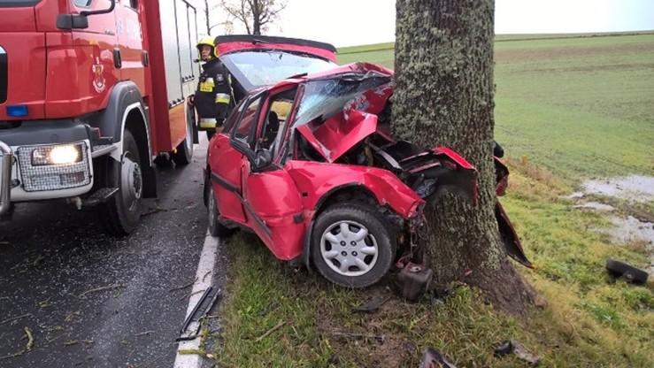 Auto wbiło się w drzewo. Śmiertelny wypadek w woj. warmińsko-mazurskim