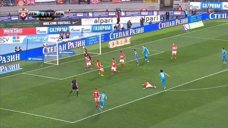 Zenit St. Petersburg - Spartak Moskwa 5:2. Skrót meczu