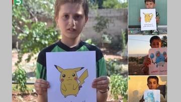 """21-07-2016 13:39 Mali Syryjczycy chcą być jak Pokemony. """"Uratujesz mnie?"""""""