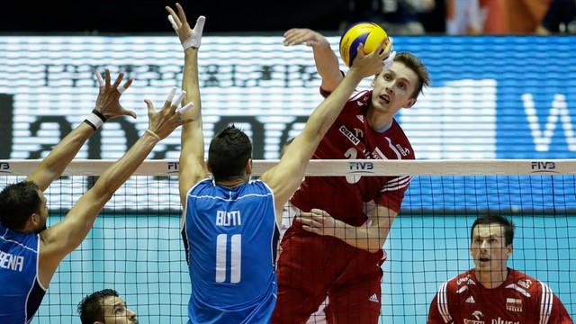 PŚ siatkarzy - Polska - Włochy 1:3