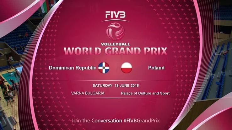 WGP: Polska - Dominikana 2:3. Skrót meczu