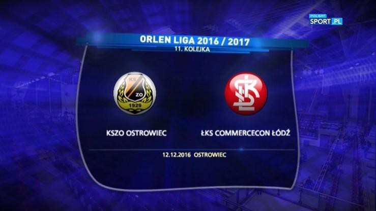 KSZO Ostrowiec - ŁKS Commercecon Łódź 1:3. Skrót meczu