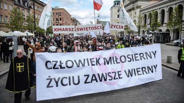 """Marsz Świętości Życia w Warszawie. """"Święte jest życie każdego człowieka"""""""