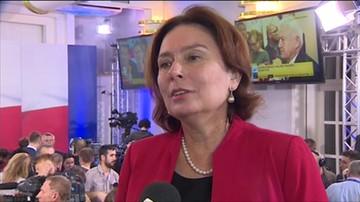 Marszałek Sejmu Małgorzata Kidawa-Błońska o porażce wyborczej PO.