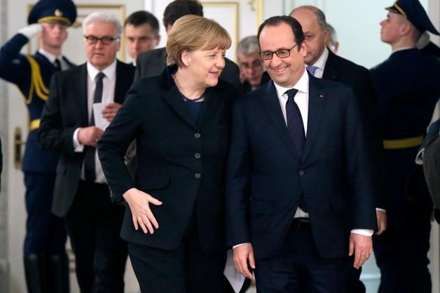 Merkel: iskierka nadziei na pokój na Ukrainie