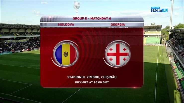 Mołdawia - Gruzja 2:2. Skrót meczu