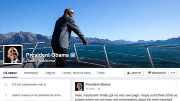 10-11-2015 08:38 Obama założył prywatne konto na Facebooku. Zobacz pierwszy wpis