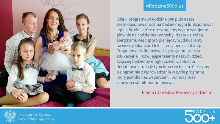 Radny PiS w reklamie programu Rodzina 500+