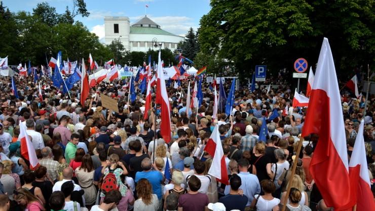 Policja: niedzielne manifestacje w stolicy przebiegły spokojnie