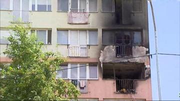 Cztery osoby z poparzeniami po pożarze w Szczecinie