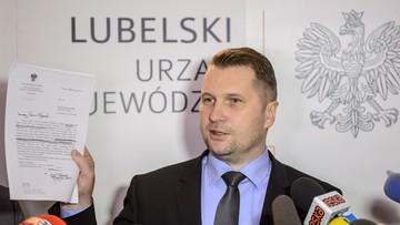 Wojewoda chce opinii prawnych w sprawie wygaśnięcia mandatu prezydenta Lublina