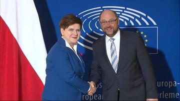 19-01-2016 12:06 Premier spotkała się z szefem PE. Przed debatą o sytuacji w Polsce