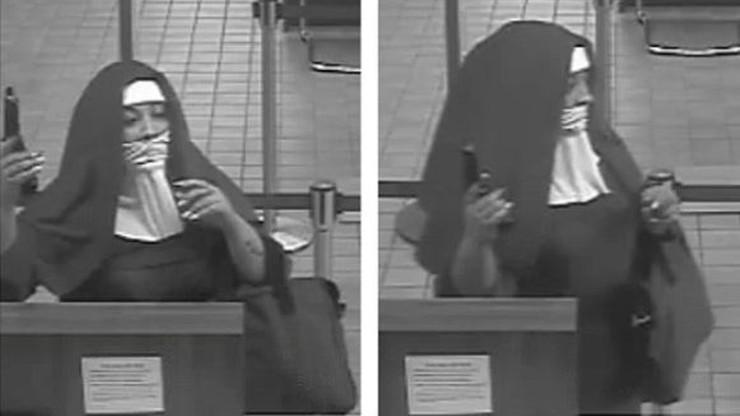 Fałszywe zakonnice napadły na bank z bronią w ręku