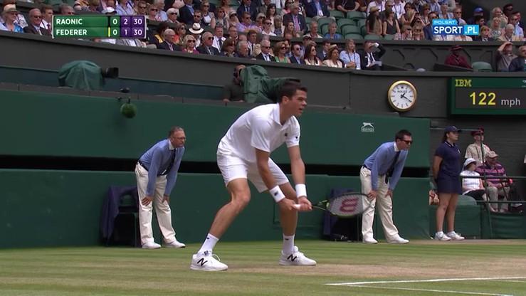 Roger Federer - Milos Raonic 2:3. Skrót meczu