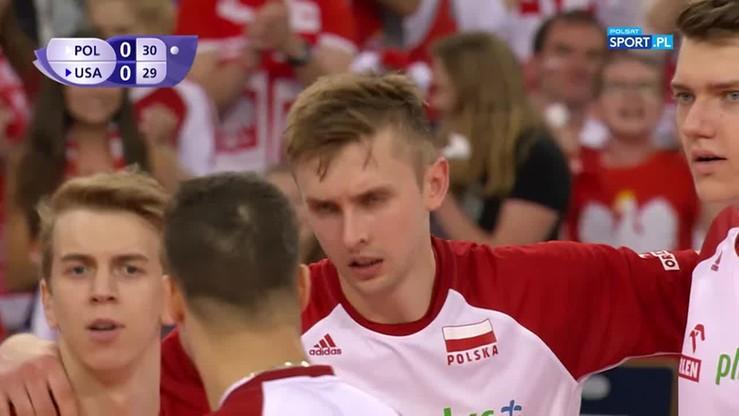 2017-06-18 Niesamowity comeback Polaków w końcówce seta z USA! Dwa asy Bieńka