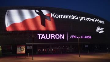 Iluminacja świetlna w Krakowie w rocznicę wprowadzenia stanu wojennego