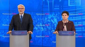 """24-01-2017 11:40 """"Przedstawimy propozycje koniecznych zmian w UE"""". Premier po spotkaniu z szefem MSZ"""