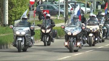 Rosyjscy motocykliści oddali hołd czerwonoarmistom w Braniewie. Spiker wymienił