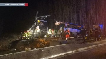 Poważny wypadek we Francji. W szkolny autobus uderzył pociąg. Zginęły dzieci