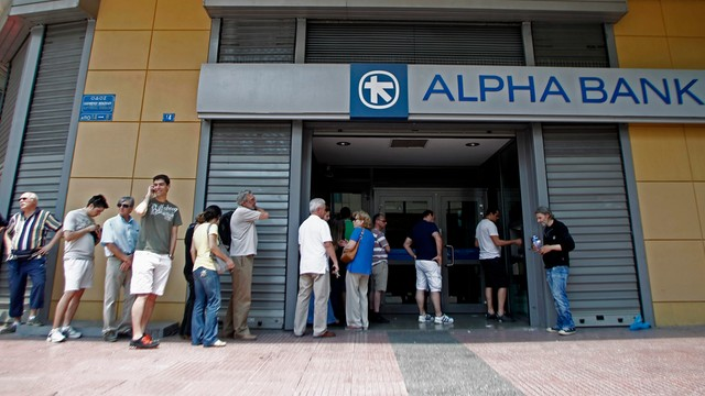 Banki w Grecji od środy otwarte dla emerytów