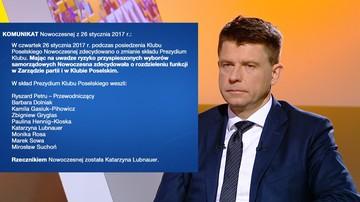 27-01-2017 13:14 Kadrowe przetasowania w Nowoczesnej. Petru: możliwe przyspieszone wybory samorządowe
