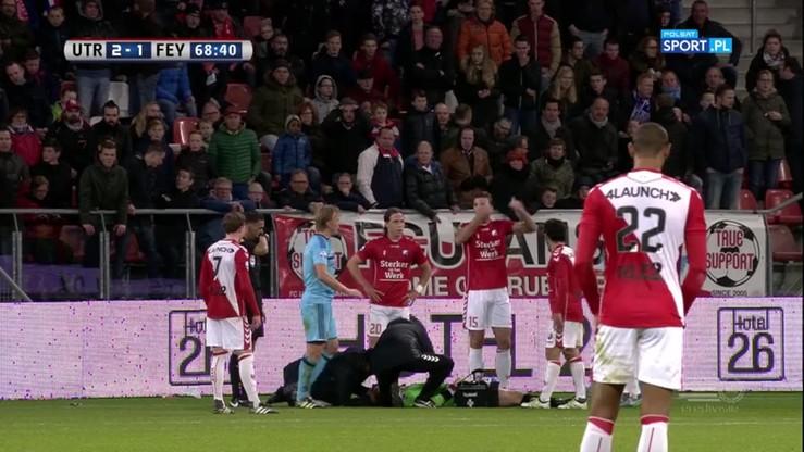 Bramkarz Utrechtu stracił przytomność po upadku! Poważna kontuzja