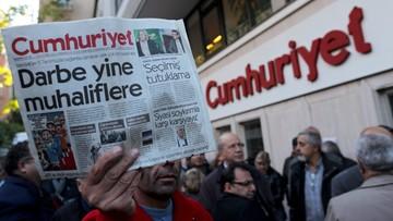 05-11-2016 10:48 Turecki sąd nakazał aresztowanie szefów i dziennikarzy opozycyjnego dziennika