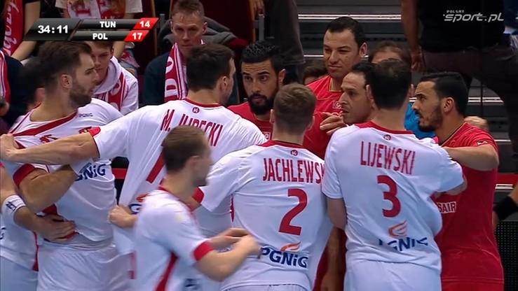 Awantura na meczu Polska - Tunezja! Trzech zawodników wykluczonych