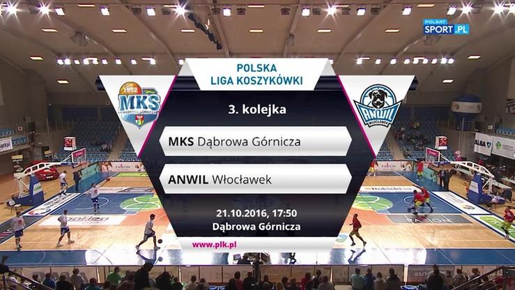 MKS Dąbrowa Górnicza - Anwil Włocławek 70:56. Skrót meczu