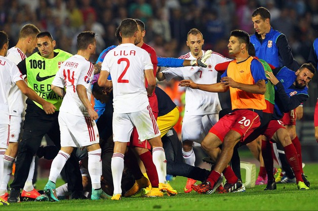 Po meczu Serbia-Albania. Jest dochodzenie UEFA