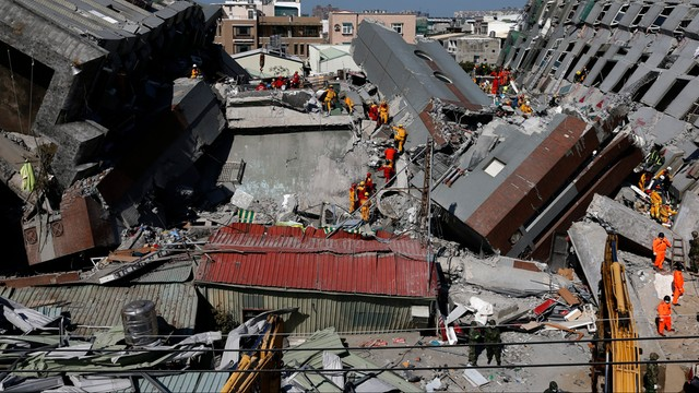 Tajwan: 35 ofiar śmiertelnych trzęsienia ziemi