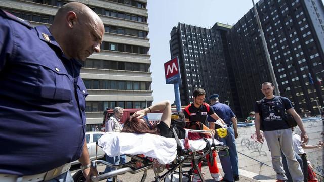 21 rannych w wypadku metra w Rzymie