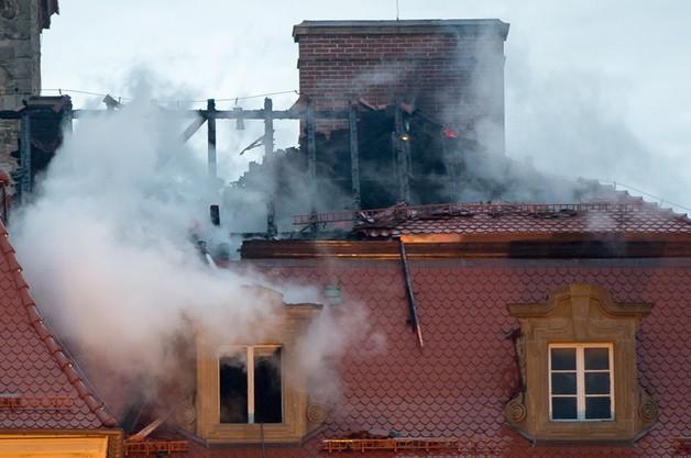 Spłonęła część dachu na Zamku Książ