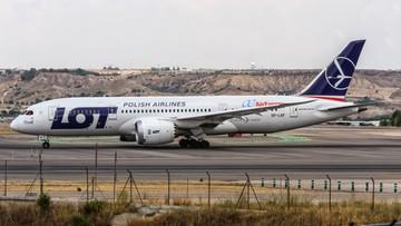 01-07-2016 16:31 Znów problemy z Dreamlinerem. Samolot zawrócił do Warszawy