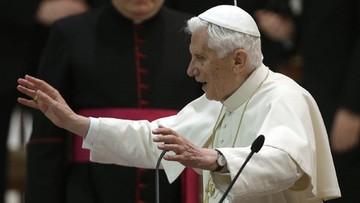 """01-07-2016 11:09 Benedykt XVI wyznał, że udało mu się rozwiązać """"gejowskie lobby"""" w Watykanie"""