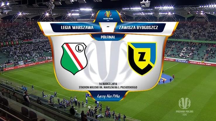 Legia Warszawa - Zawisza Bydgoszcz 4:0. Skrót meczu