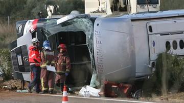 20-03-2016 11:13 Hiszpania: wypadek autokaru ze studentami. 14 osób nie żyje