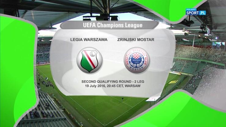 Legia Warszawa - Zrinjski Mostar 2:0. Skrót meczu