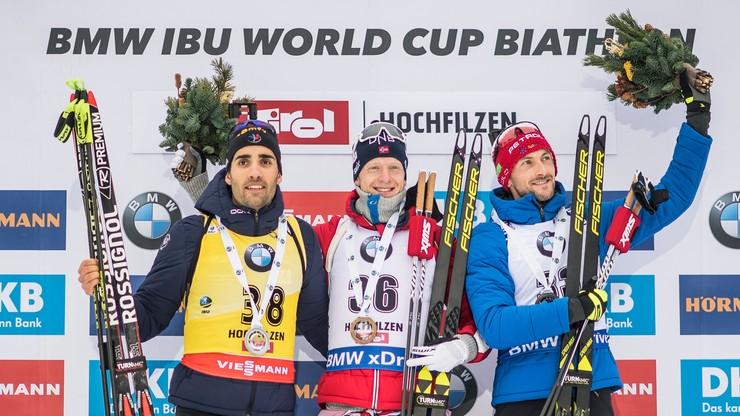 PŚ w biathlonie: Zwycięstwo Johannesa Boe w sprincie w Hochfilzen