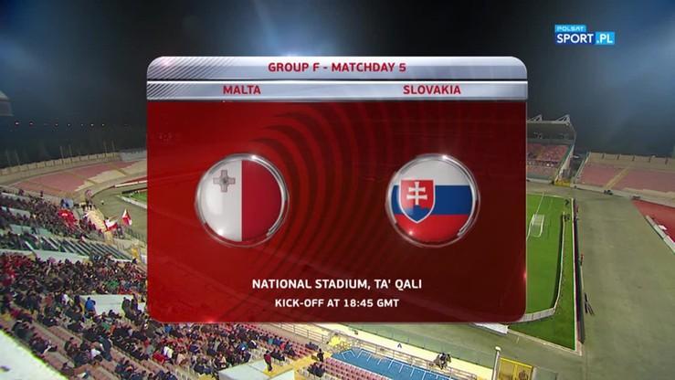 Malta - Słowacja 1:3. Skrót meczu
